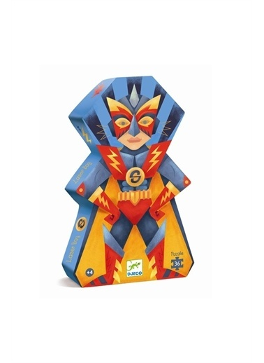 Djeco Djeco Dekoratif Puzzle 36 Parça/Süper Boy Pembe